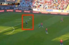 Swedish goalie sent off after 44 seconds for the worst handball ever
