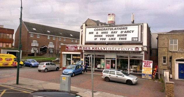 Ray D'Arcy's wedding has its own billboard… AND a message from King Joffrey