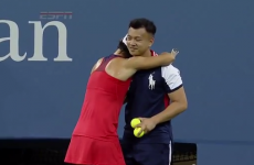 Serena Williams' US Open opponent got so fed up that she needed a hug from a ball boy