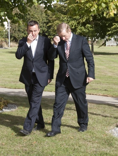 Caption competition: Why are Enda and Brian Hayes looking so suspicious?