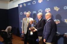 Dan Rooney helps launch the 2014 Croke Park Classic in the U.S.