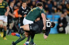 Romain Poite hung out to dry by IRB over 'late' Dan Carter hit
