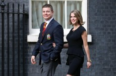 Brian O'Driscoll and Amy Huberman guests of honour at 10 Downing Street