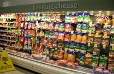 This American supermarket has a 'hanging cheese' section