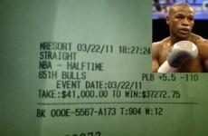 Floyd 'Money' Mayweather bets $41,000 on one half of basketball