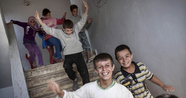 Syrian children return to school for first time in a year