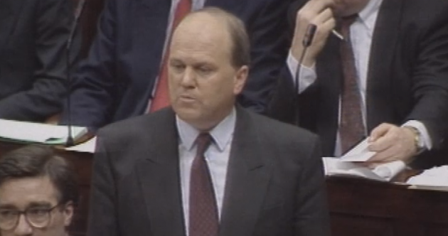 Check out out these pictures of Michael Noonan on Budget Day… 23 years ago
