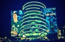 Snapshot: Dublin's Convention Centre lit up for BOD