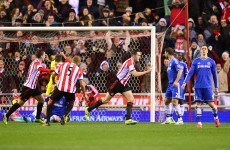 Wave 'em like you just don't care: John O'Shea scored ANOTHER goal tonight