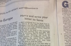 Santa's head elf sends letter to Irish kids
