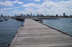 Woman accidentally walks off pier while checking Facebook on her phone