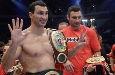 Wladimir Klitschko vows to win brother's WBC belt