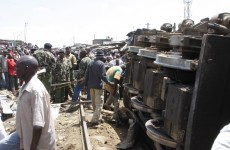Unknown number trapped after cargo train derailment in Nairobi slum