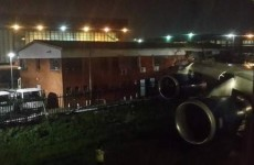 British Airways plane collides into a building at Johannesburg Airport