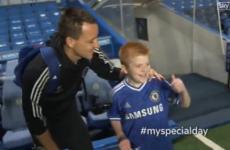 Heartwarming scenes as brave Skerries teenager meets Chelsea heroes