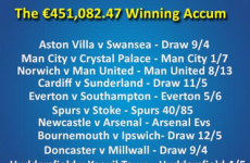 Here's how one Irish punter turned 20 quid into almost half a million euros this weekend