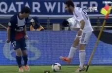 VIDEO: Real Madrid's Dani Carvajal is tackled by a corner flag