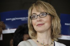 Gabby Giffords was almost killed by a gunman three years ago, today she skydived