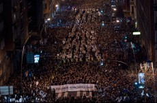 Basque protesters defy Madrid ruling in Bilbao demonstration