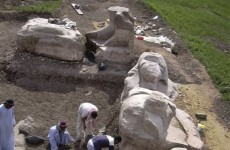 Huge statue of Egyptian pharaoh unearthed in Luxor