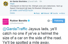 This Garda Traffic Twitter exchange with the Rubberbandits is outstandingly Irish