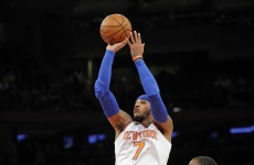 Carmelo Anthony's record-breaking 62 points included this half-court buzzer beater