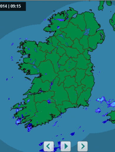 A sight for sore eyes…Ireland is (almost) rain free
