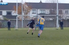 Stephen Cluxton tries to school his students in a GAA 'Crossbar Challenge'