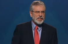 Adams calls for left to unite, says: 'Sinn Féin will keep every commitment that we make'