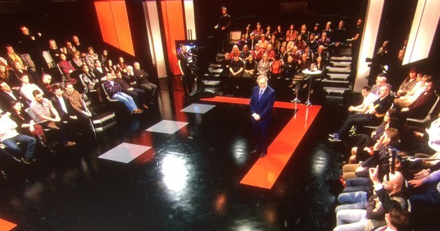 Here's a sneak peek at the set for Vincent Browne's new show…
