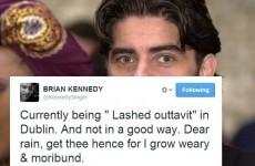 Tweet Sweeper: Brian Kennedy got 'lashed outtavit'