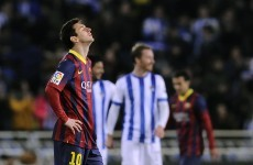 Sociedad stun Barcelona, Real Madrid go top of La Liga