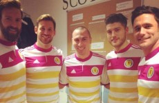 This is the new 'pack of sweets' away jersey Scotland will wear in Dublin
