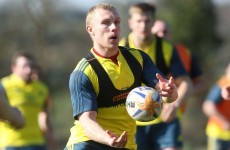SNAPSHOT: Keith Earls is back in training with Munster