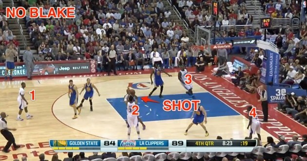 Blake Griffin wasn't even in the frame when the shot went up on this crazy put-back dunk