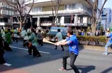 Irish lad and his hurley crash Tokyo's St. Patrick's Day parade