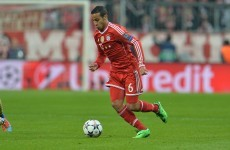 Bayern's Thiago ruled out of Man United clash