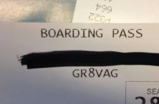 Brilliant boarding pass gives passenger a rather rude compliment