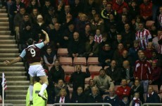 Towering Andy Carroll delivers Hammer blow to Sunderland