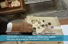 Hundred-year-old treasure found in time capsule under Columbus monument