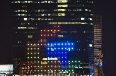 People played Tetris on the side of a huge skyscraper to celebrate its 30th birthday