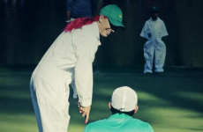 GIF: Pink-haired Wozniacki sinks 30ft putt as McIlroy's caddie