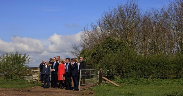 Don't worry, Michael D's not lost… The State visit party was SUPPOSED to end up on a farm