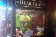Missing toddler found inside claw machine