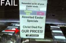 12 people who have failed spectacularly at Easter