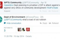 Careful now: The Department of the Environment doesn't pull its punches on Twitter