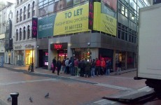 HMV has reopened on Grafton Street… and here was the queue this morning