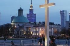 Man crushed by falling giant crucifix honouring Pope John Paul II