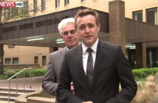 WATCH: Max Clifford creeps up behind Sky News correspondent
