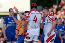 Ulster down to 14 men AGAIN as Tom Court is sent off for spear tackle